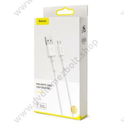 BASEUS CAMSW-02 MICRO USB KÁBEL 2,4A 1m FEHÉR