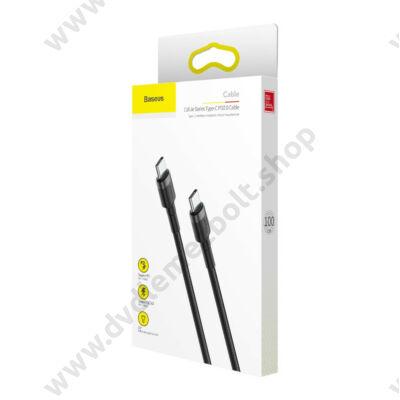 BASEUS CATKLF-GG1 CAFULE USB-C/USB-C GYORS TÖLTŐ ÉS ADATKÁBEL PD 2.0 QC 3.0 3A 60W 1m FEKETE
