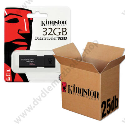 KINGSTON USB 3.0 DATATRAVELER 100 G3 32GB - 25 DB-OS CSOMAG