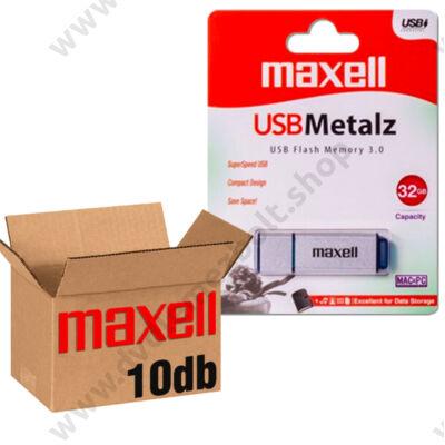 MAXELL USB 3.0 PENDRIVE METALZ 32GB - 10 DB-OS CSOMAG