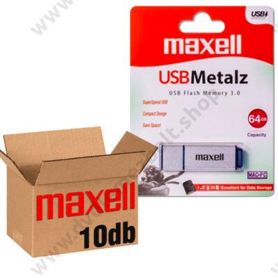 MAXELL USB 3.0 PENDRIVE METALZ 64GB - 10 DB-OS CSOMAG