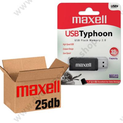 MAXELL USB 2.0 PENDRIVE TYPHOON 32GB - 25 DB-OS CSOMAG