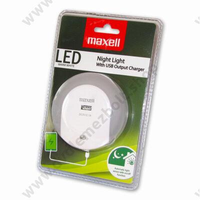 MAXELL NIGHT LIGHT ÉJJELI LÁMPA 2.1A USB TÖLTŐVEL