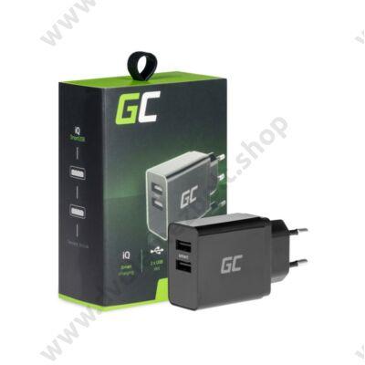 GREEN CELL CHAR02 USB TÖLTŐ 2xUSB PORT iQ SMART CHARGE 3.0