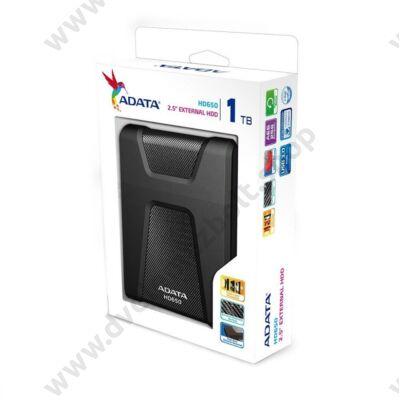ADATA USB 3.0 HDD 2,5 HD650 1TB FEKETE