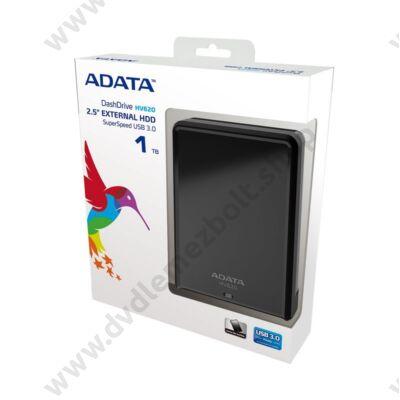 ADATA USB 3.0 HDD 2,5 HV620 1TB FEKETE FÉNYES