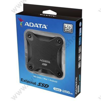 ADATA SD600 2,5 COL USB 3.1 KÜLSŐ SSD MEGHAJTÓ 256GB FEKETE
