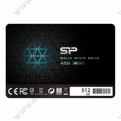 SILICON POWER ACE A55 512GB 2,5 COL SATA3 560/530 MB/s 7mm SSD MEGHAJTÓ