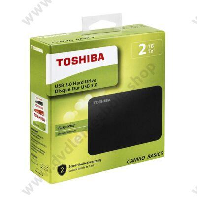 TOSHIBA CANVIO BASICS 2,5 COL USB 3.0 KÜLSŐ MEREVLEMEZ 2TB FEKETE