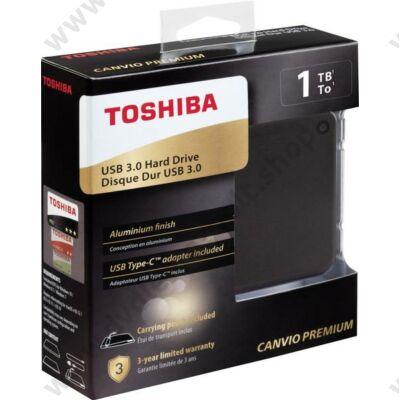 TOSHIBA CANVIO PREMIUM 2,5 COL USB 3.0 KÜLSŐ MEREVLEMEZ 1TB SZÜRKE