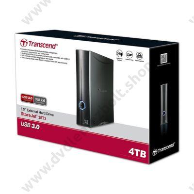 TRANSCEND STOREJET 35T3 3,5 COL USB 3.0 KÜLSŐ MEREVLEMEZ 4TB