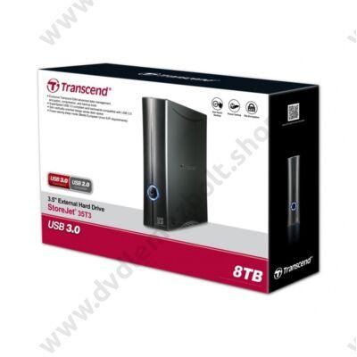 TRANSCEND STOREJET 35T3 3,5 COL USB 3.0 KÜLSŐ MEREVLEMEZ 8TB