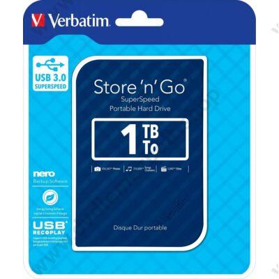 VERBATIM USB 3.0 HDD 2,5 STORE N GO G2 1TB KÉK