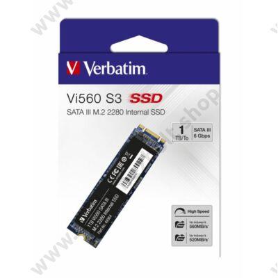 VERBATIM Vi560 S3 M.2 2280 SATA III 560/520 MB/s SSD MEGHAJTÓ 1TB