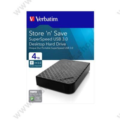 VERBATIM STORE N SAVE 3,5 COL USB 3.0 KÜLSŐ MEREVLEMEZ 4TB