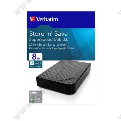 VERBATIM STORE N SAVE 3,5 COL USB 3.0 KÜLSŐ MEREVLEMEZ 8TB