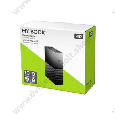 WESTERN DIGITAL MY BOOK 3,5 COL USB 3.0 KÜLSŐ MEREVLEMEZ 10TB FEKETE