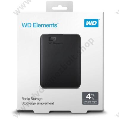 WESTERN DIGITAL ELEMENTS PORTABLE 2,5 COL USB 3.0 KÜLSŐ MEREVLEMEZ 4TB FEKETE