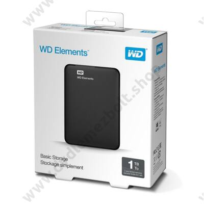 WESTERN DIGITAL ELEMENTS USB 3.0 HDD 2,5 FEKETE 1TB