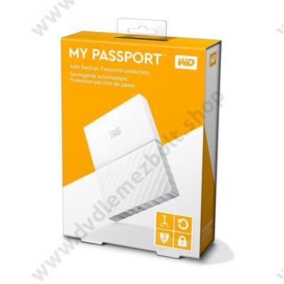 WESTERN DIGITAL MY PASSPORT USB 3.0 HDD 2,5 FEHÉR 1TB