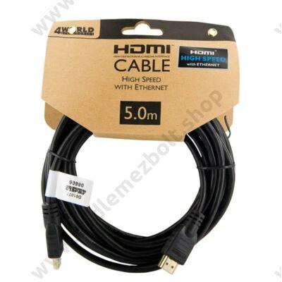 4WORLD HDMI-HDMI KÁBEL 1.4 ARANYOZOTT 5m