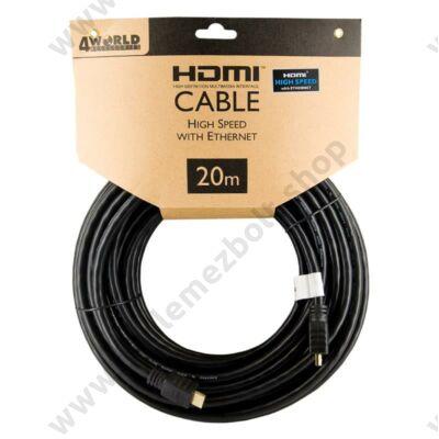 4WORLD HDMI-HDMI KÁBEL 1.4 ARANYOZOTT 20m