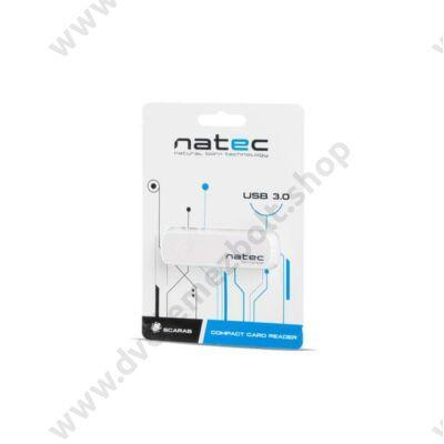 NATEC USB 3.0 MICRO SD/MICRO SDHC/MICRO SDXC MEMÓRIAKÁRTYA OLVASÓ FEHÉR