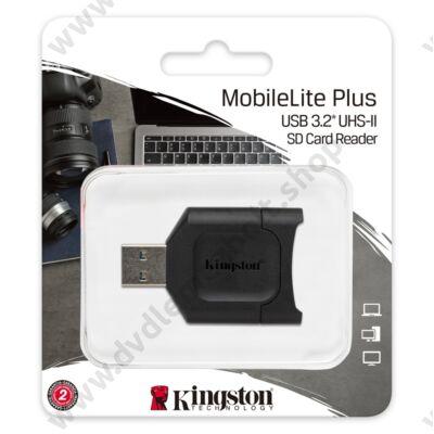 KINGSTON MOBILELITE PLUS USB 3.2 MEMÓRIAKÁRTYA OLVASÓ UHS-II/UHS-I SDHC/SDXC MEMÓRIAKÁRTYÁKHOZ