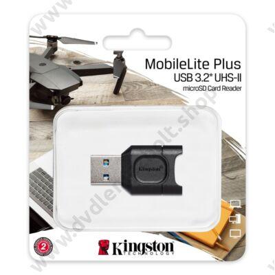 KINGSTON MOBILELITE PLUS USB 3.2 MEMÓRIAKÁRTYA OLVASÓ UHS-II/UHS-I MICRO SDHC/MICRO SDXC MEMÓRIAKÁRTYÁKHOZ