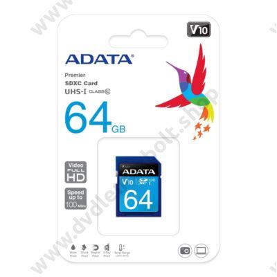 ADATA PREMIER SDXC 64GB CLASS 10 UHS-I U1 V10 100/25 MB/s