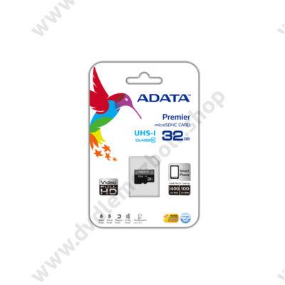 ADATA MICRO SDHC 32GB UHS-I CLASS 10 (50 MB/s OLVASÁSI SEBESSÉG)