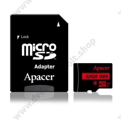 APACER R85 MICRO SDHC 32GB + ADAPTER CLASS 10 UHS-I U1 (85 MB/s OLVASÁSI SEBESSÉG)