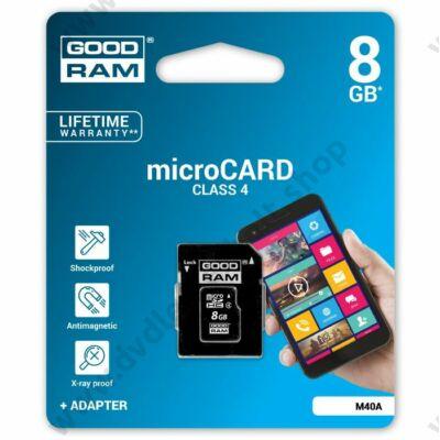 GOODRAM MICRO SDHC 8GB + ADAPTER CLASS 4