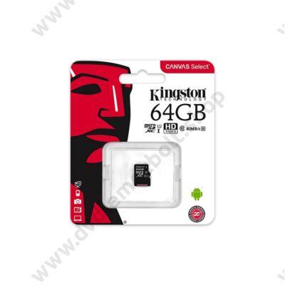 KINGSTON CANVAS SELECT MICRO SDXC 64GB CLASS 10 UHS-I U1 (80 MB/s OLVASÁSI SEBESSÉG)