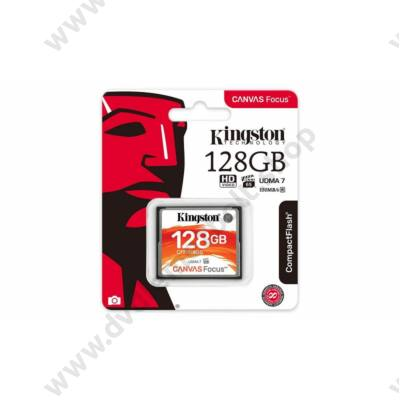 KINGSTON CANVAS FOCUS COMPACT FLASH 150R/130W UDMA7 VPG-65 128GB