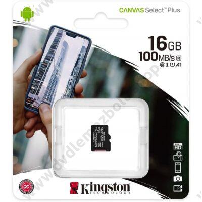 KINGSTON CANVAS SELECT PLUS MICRO SDHC 16GB CLASS 10 UHS-I U1 A1 V10 (100 MB/s)