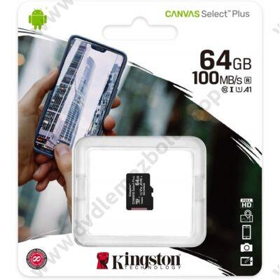 KINGSTON CANVAS SELECT PLUS MICRO SDXC 64GB CLASS 10 UHS-I U1 A1 V10 (100 MB/s)