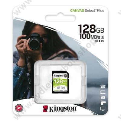 KINGSTON CANVAS SELECT PLUS SDXC 128GB CLASS 10 UHS-I U3 V30 100/85 MB/s