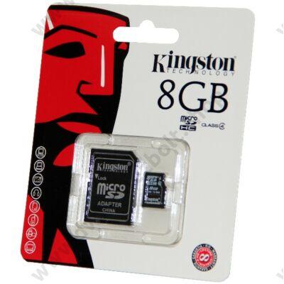 KINGSTON MICRO SDHC 8GB + ADAPTER CLASS 4