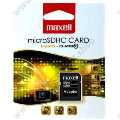 MAXELL MICRO SDHC 8GB + ADAPTER CLASS 10