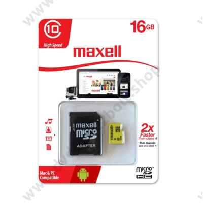 MAXELL YELLOW MICRO SDHC 16GB + ADAPTER CLASS 10