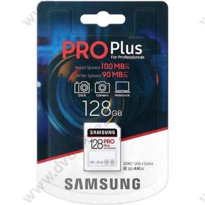 SAMSUNG PRO PLUS SDXC 128GB CLASS 10 UHS-I U3 100/90 MB/s