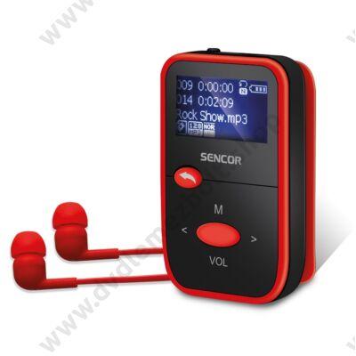 SENCOR SFP 4408 MP3 LEJÁTSZÓ 8GB FEKETE/PIROS