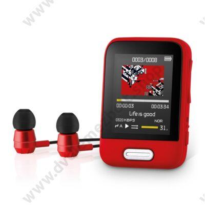 SENCOR SFP 7716 MP3/MP4 LEJÁTSZÓ BLUETOOTH 16GB PIROS
