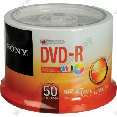 SONY DVD-R 16X NYOMTATHATÓ CAKE (50)