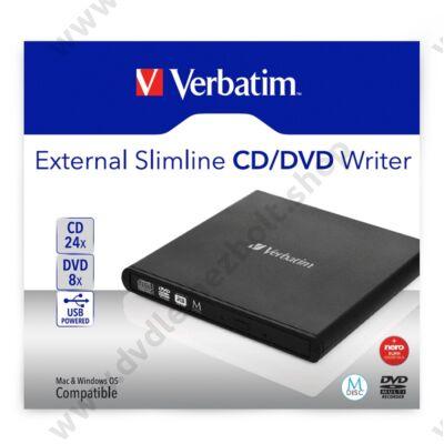 VERBATIM SLIMLINE USB KÜLSŐ CD/DVD ÍRÓ