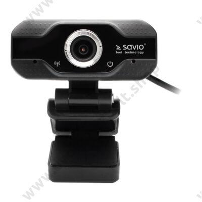 SAVIO CAK-01 FULL HD 1080p 30FPS WEBKAMERA FEKETE