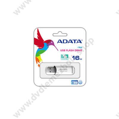ADATA USB 2.0 PENDRIVE CLASSIC C906 16GB FEHÉR