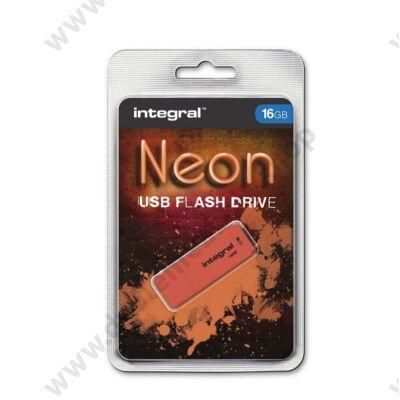 INTEGRAL NEON USB 2.0 PENDRIVE 16GB NARANCSSÁRGA