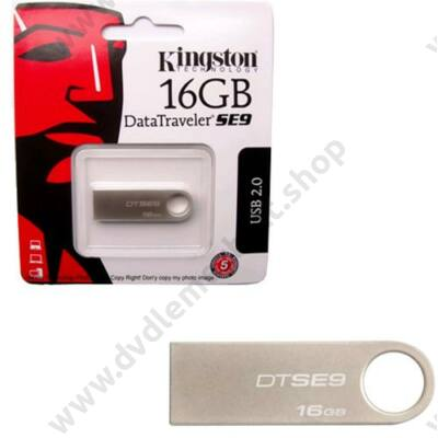 KINGSTON USB 2.0 DATATRAVELER SE9 EZÜST 16GB